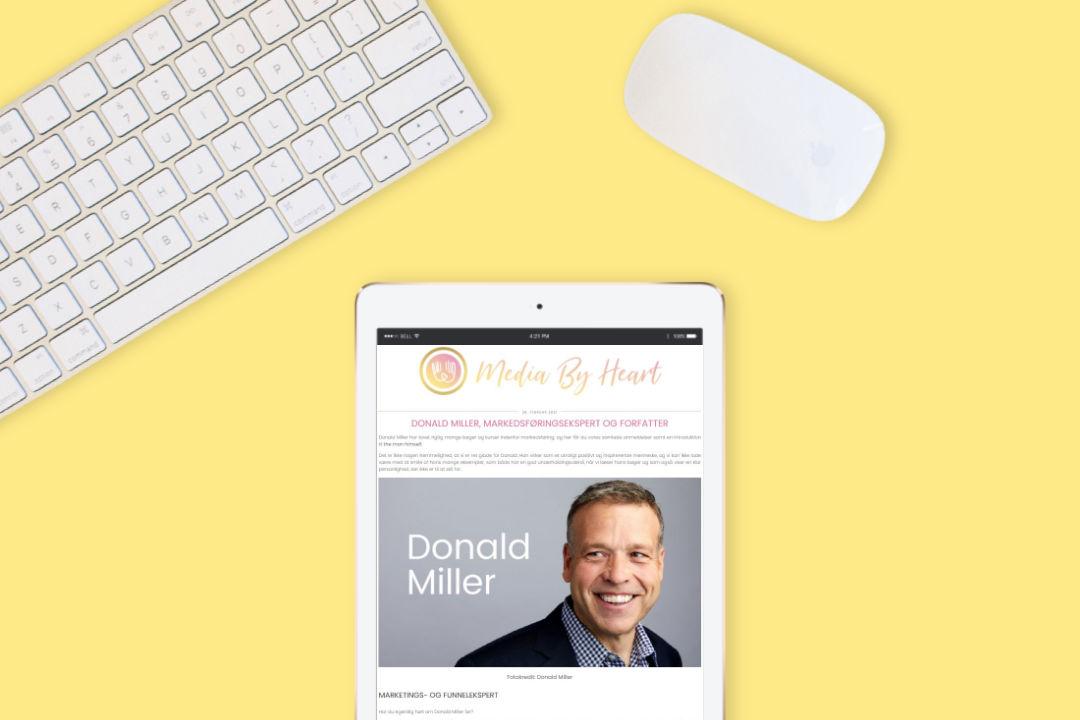 Donald Miller, markedsføringsekspert og forfatter